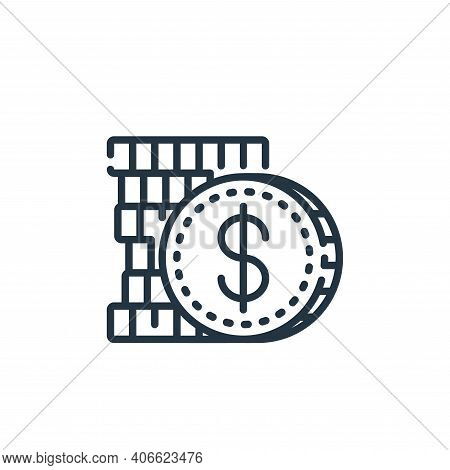 dollar icon isolated on white background from banking and money collection. dollar icon thin line ou