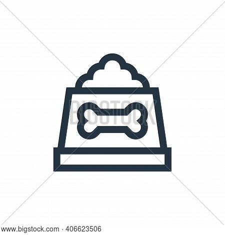 dog food icon isolated on white background from pet shop collection. dog food icon thin line outline