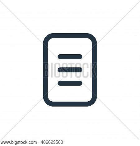 document icon isolated on white background from device collection. document icon thin line outline l