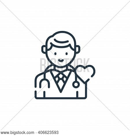 doctor icon isolated on white background from kindness collection. doctor icon thin line outline lin