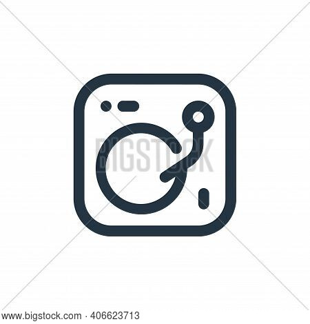 dj mixer icon isolated on white background from sound collection. dj mixer icon thin line outline li
