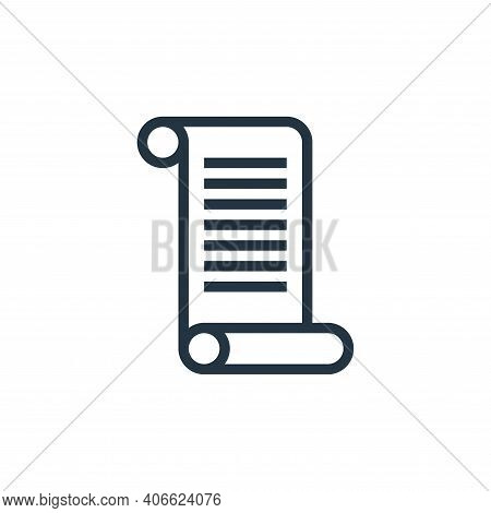diploma icon isolated on white background from education collection. diploma icon thin line outline