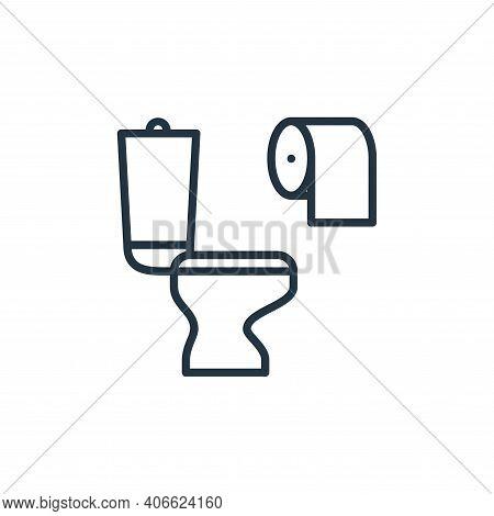diarrhea icon isolated on white background from stop virus collection. diarrhea icon thin line outli