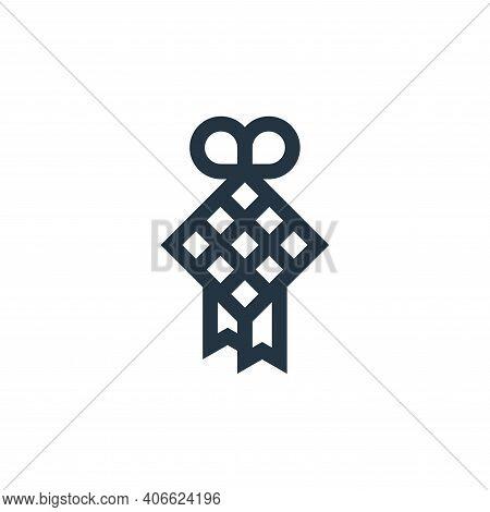 diamond icon isolated on white background from ramadan collection. diamond icon thin line outline li