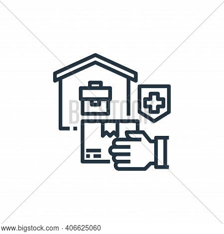 delivery icon isolated on white background from work from home collection. delivery icon thin line o