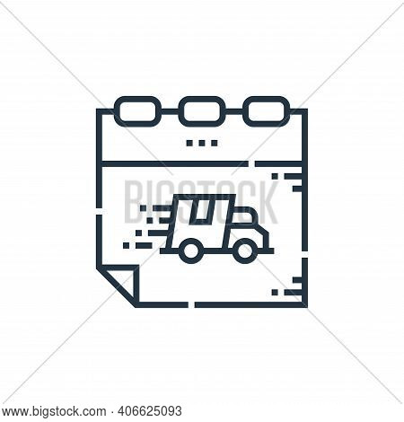delivery icon isolated on white background from delivery collection. delivery icon thin line outline