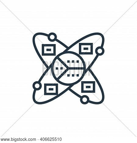 data scientist icon isolated on white background from data analytics collection. data scientist icon