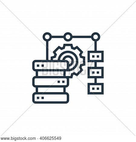 data merge icon isolated on white background from data analytics collection. data merge icon thin li