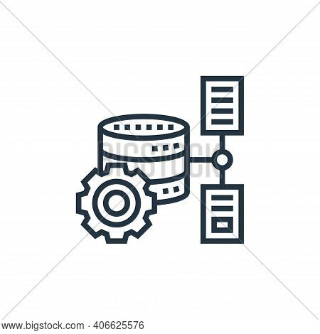 database storage icon isolated on white background from data analytics collection. database storage