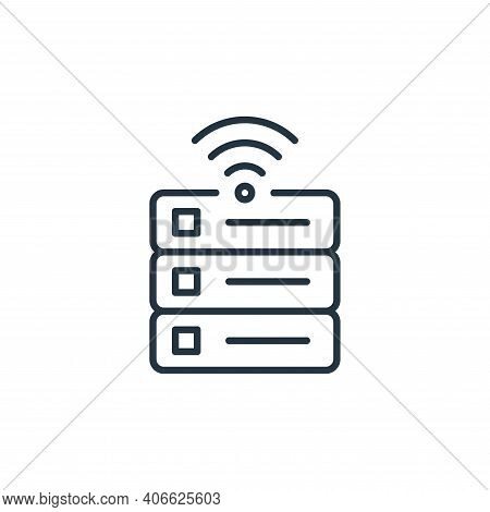 database icon isolated on white background from internet of things collection. database icon thin li