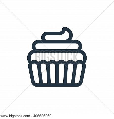 cupcake icon isolated on white background from england collection. cupcake icon thin line outline li