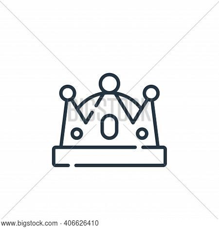 crown icon isolated on white background from fame collection. crown icon thin line outline linear cr