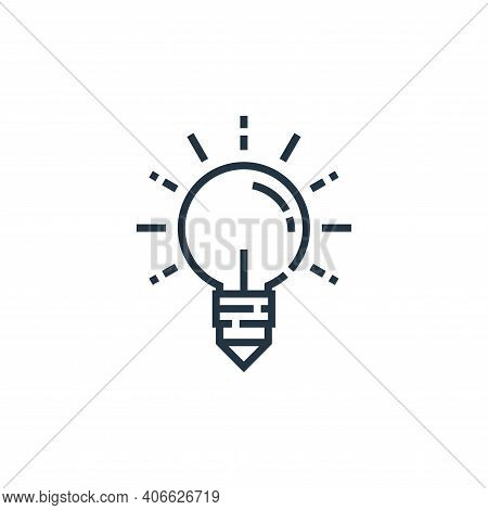 creativity icon isolated on white background from marketing collection. creativity icon thin line ou