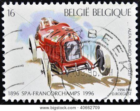 BELGIUM - CIRCA 1996: A stamp printed in Belgium shows Alfa Romeo R2 (1925) circa 1996