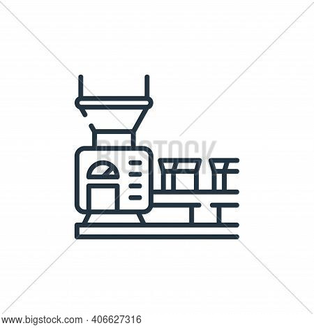 conveyor belt icon isolated on white background from industrial process collection. conveyor belt ic