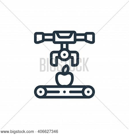 conveyor icon isolated on white background from smart farm collection. conveyor icon thin line outli