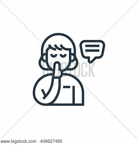 confidential icon isolated on white background from confidential information collection. confidentia
