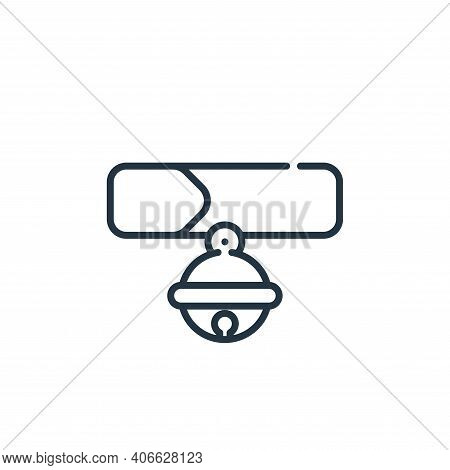 collar icon isolated on white background from pets collection. collar icon thin line outline linear