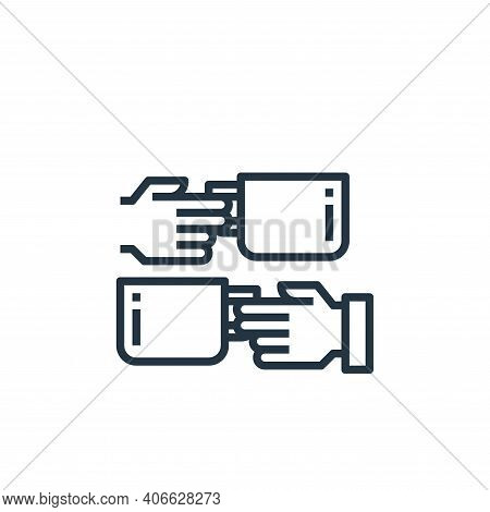 coffee time icon isolated on white background from work from home collection. coffee time icon thin