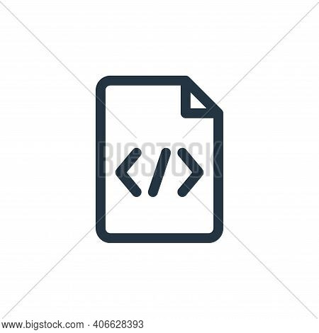 coding icon isolated on white background from document and files collection. coding icon thin line o