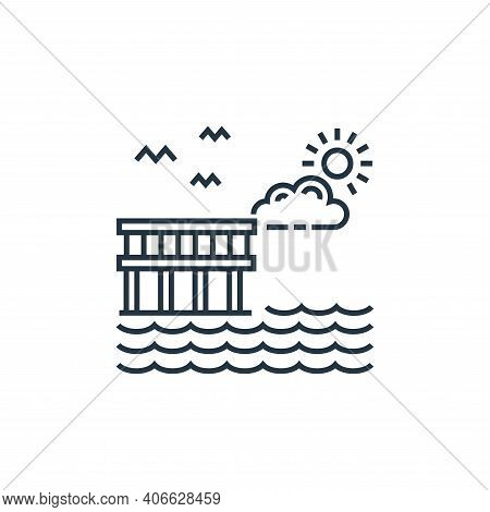 coast icon isolated on white background from tourism collection. coast icon thin line outline linear