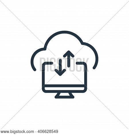 cloud storage icon isolated on white background from data transfer collection. cloud storage icon th