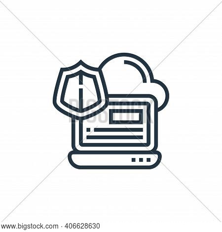 cloud icon isolated on white background from confidential information collection. cloud icon thin li