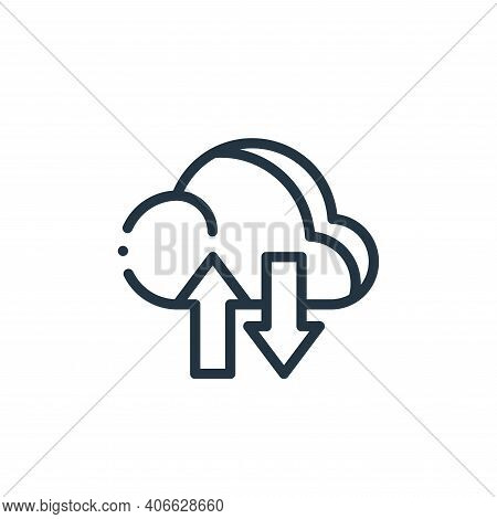 cloud icon isolated on white background from design thinking collection. cloud icon thin line outlin
