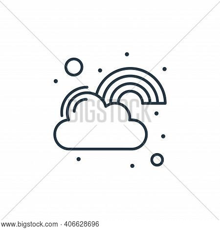 cloud icon isolated on white background from saint patrick collection. cloud icon thin line outline