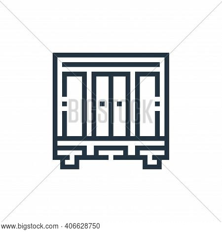 closet icon isolated on white background from inside home collection. closet icon thin line outline