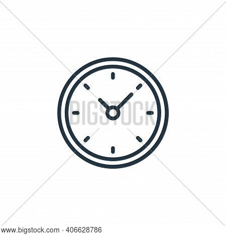 clock icon isolated on white background from education collection. clock icon thin line outline line