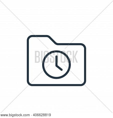 clock icon isolated on white background from folder collection. clock icon thin line outline linear