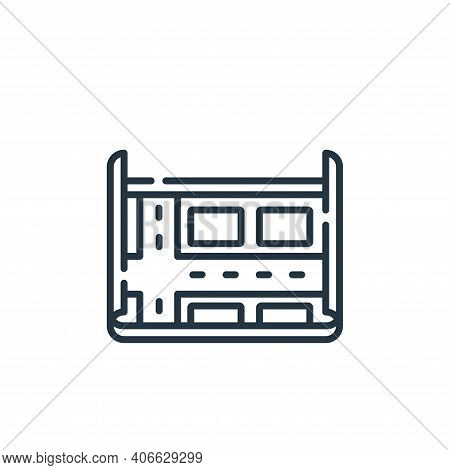 city map icon isolated on white background from navigation and maps collection. city map icon thin l