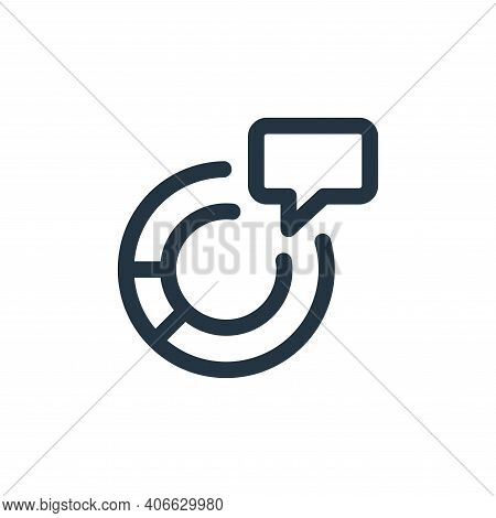 chat bubble icon isolated on white background from web apps seo collection. chat bubble icon thin li