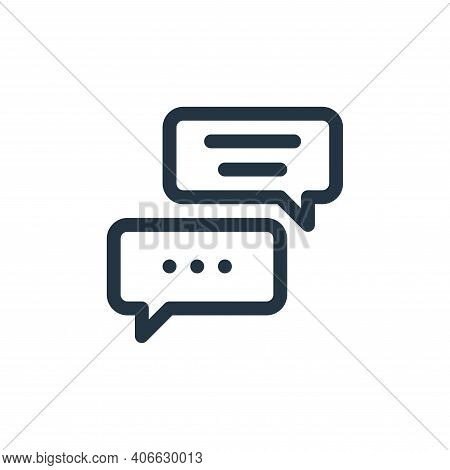 chat box icon isolated on white background from communication and media collection. chat box icon th