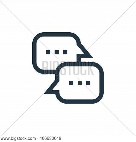 chat box icon isolated on white background from hobbies collection. chat box icon thin line outline