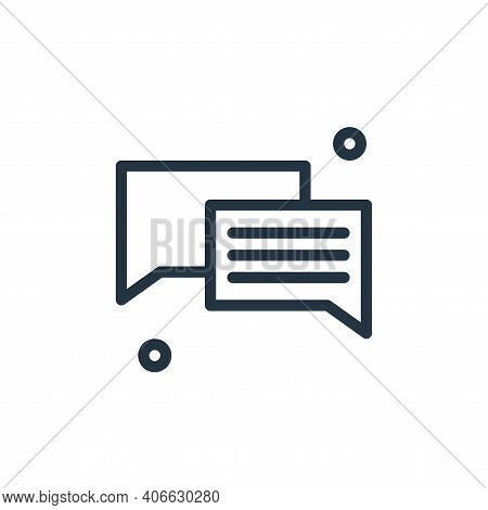 chat icon isolated on white background from business collection. chat icon thin line outline linear