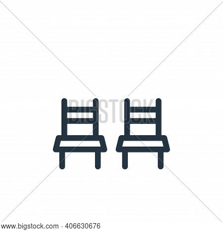 chairs icon isolated on white background from holiday collection. chairs icon thin line outline line