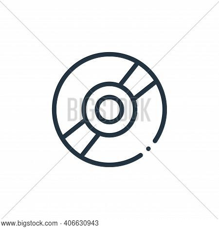 cd icon isolated on white background from plastic products collection. cd icon thin line outline lin