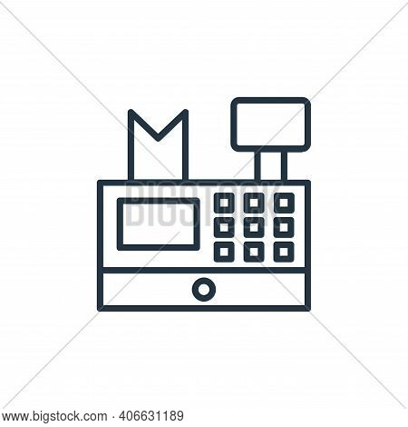 cash register icon isolated on white background from shopping line icons collection. cash register i
