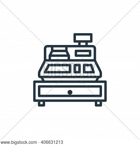 cashier machine icon isolated on white background from motorway collection. cashier machine icon thi
