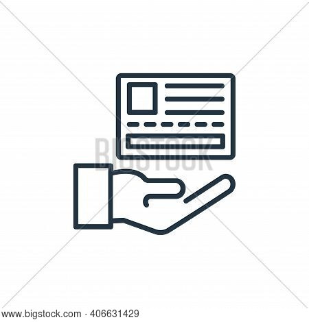 card payment icon isolated on white background from shopping line icons collection. card payment ico