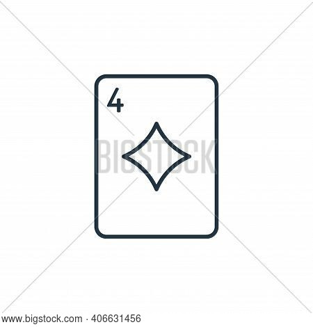 Card game icon isolated on white background from casino collection. Card game icon thin line outline