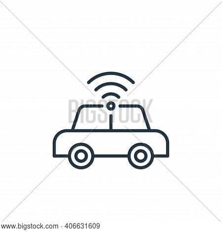 car icon isolated on white background from internet of things collection. car icon thin line outline