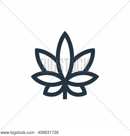 Cannabis icon isolated on white background from holland collection. Cannabis icon thin line outline