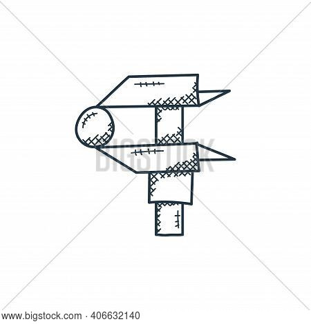 caliper icon isolated on white background from technology collection. caliper icon thin line outline