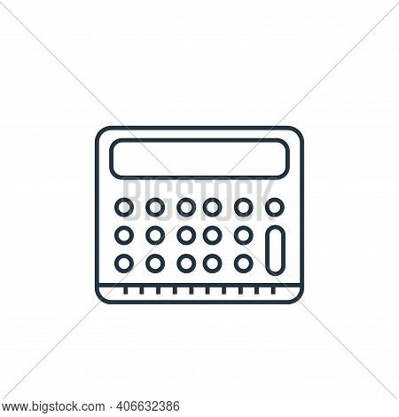 calculator icon isolated on white background from online shopping collection. calculator icon thin l