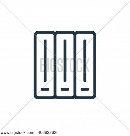 cabinet icon isolated on white background from work office supply collection. cabinet icon thin line