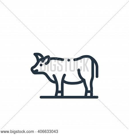 buffalo icon isolated on white background from in the village collection. buffalo icon thin line out