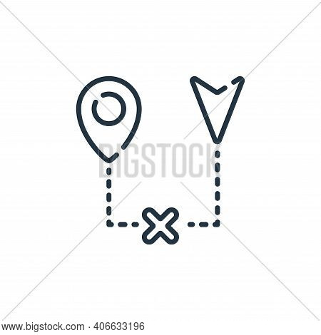 broken icon isolated on white background from navigation and maps collection. broken icon thin line